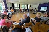 2-3 mal jährlich tagt das Marburger Kulturforum - meist im Konzertsaal der Musikschule am Schwanhof/Louisa-Biland.Platz©Georg Kronenberg