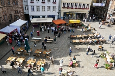 Marburger Oberstadtmarkt: Blick aus der Vogelperspektive©Stadtmarketing Marburg e. V.