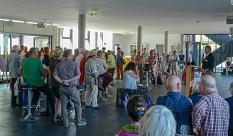 Oberbürgermeister Dr. Thomas Spies eröffnet die Marburger Sommerakademie im Gymnasium Philippinum.©Nadja Schwarzwäller i.A.d. Stadt Marburg