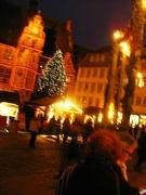 Marburger Weihnachtsmarkt Marktplatz mit Rathaus schön beleuchtet