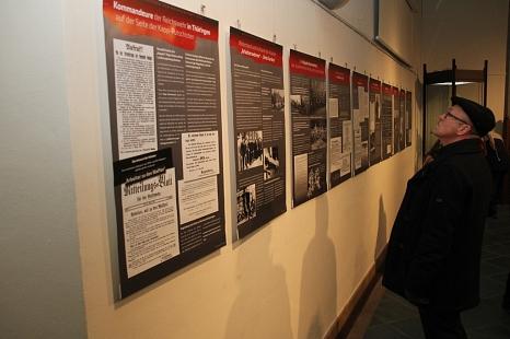 Auf einer Vielzahl von Tafeln werden die Ereignisse im Jahr 1920 und ihre Wirkungsgeschichte in Bild und Text dokumentiert.©Stadt Marburg, i. A. Heiko Krause