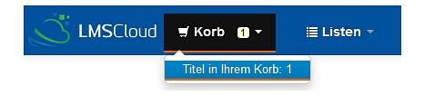Screenshot der Anzeige des Klicks auf den Medienkorb im OPAC oben,©Universitätsstadt Marburg