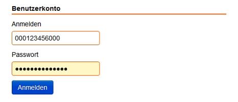 Screenshot Eingabemaske der Anmeldung im Benutzerkonto.©Universitätsstadt Marburg