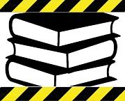 Bücher hinter Absperrband