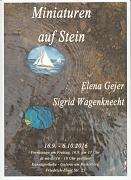 Miniaturen auf Stein - Elena Gejer und sigrid Wagenknecht