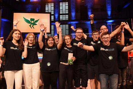 Große Freude über den Erfolg beim Deutschen Schulpreis: Die Mosaikschule ist die einzige Förderschule Deutschlands im Finale.©Robert Bosch Stiftung, Max Lautenschläger