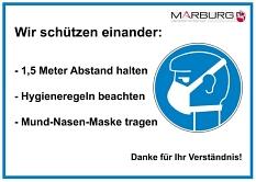 Mund und Nasenschutz Aushang©Universitätsstadt Marburg