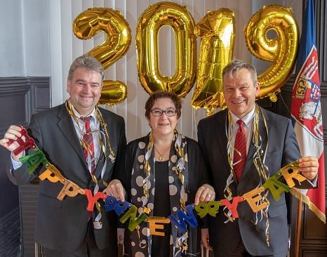 Ein frohes, friedliches und erfolgreiches Jahre 2019 wünscht der Magistrat der Universitätsstadt allen Marburgerinnen und Marburgern.©Universitätsstadt Marburg