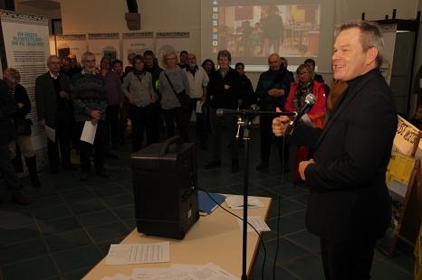 Oberbürgermeister Dr. Thomas Spies verwies darauf, dass Fluchtursachen auch bekämpft werden müssen, um den Menschen vor Ort eine Perspektive zu geben.©Heiko Krause i. A. der Stadt Marburg
