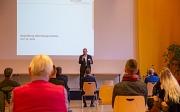 Oberbürgermeister Dr. Thomas Spies begrüßt die rund 50 Mitglieder der AG MoVe35. Die AG bringt Ideen ein und begleitet den Planungsprozess mit unterschiedlicher Expertise aus den Bereichen Handel, Verkehrsinitiativen, Politik und auch Privatpersonen