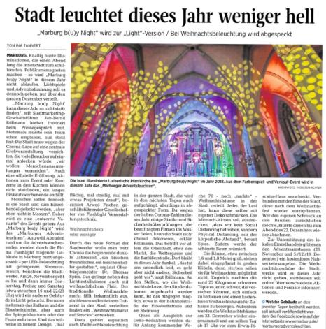 .©Oberhessische Presse, Ausgabe vom 21.11.2020