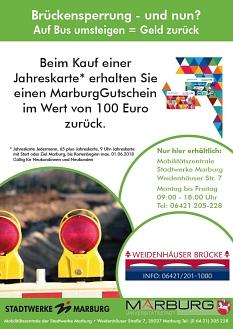 ÖPNV: Gutschein für Neukunden©Universitätsstadt Marburg