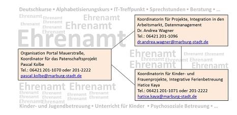 Organigramm Koordinationsstelle für Flüchtlingswesen©Universitätsstadt Marburg