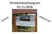 Ortsbeiratssitzung 01.11.2018