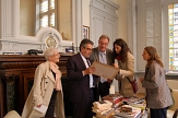 Persönliche Begegnung mit dem Oberbürgermeister von Poiters Alain Claeys©Universitätsstadt Marburg