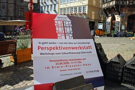 Bei der Perspektivenwerkstatt sollen aus den vielfältigen Ideen für die Zukunft der Oberstadt konkrete Visionen werden.©Thomas Steinforth, Stadt Marburg