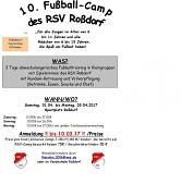 Plakat 10. Fußball - Camp des RSV Roßdorf