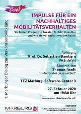 Plakat 1. Dialog zur Mobilität 2020.JPG©Universitätsstadt Marburg