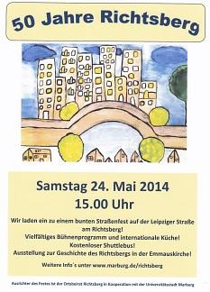 Plakat Jubiläum©Ortsbeirat Richtsberg