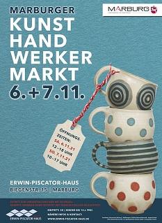 Plakatmotiv zum Marburger Kunsthandwerkermarkt am 06. und 07.11.2021©FD 45