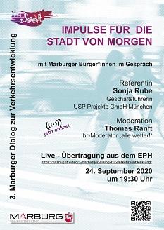 Plakat zum 3. Marburger Dialog zur Verkehrsentwicklung©Universitätsstadt Marburg