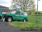 Polizeifahrzeug glänzt