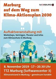 Poster Marburg auf dem Weg zum Klima-Aktionsplan 2030©Universitätsstadt Marburg