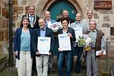 Foto der Preisträger des Jürgen-Markus-Preises 2014 vor dem Rathaus©Universitätsstadt Marburg, FD Öffentlichkeitsarbeit