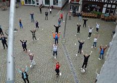 Qi-Gong auf dem Marktplatz©Universitätsstadt Marburg