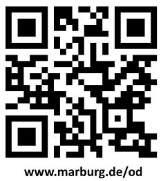 Über diesen QR-Code ist das Online-Portal digital.marburg.de der Stadt zu erreichen.©Universitätsstadt Marburg