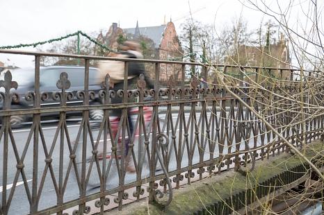 Radverkehr auf der Weidenhäuser Brücke©Stadt Marburg, Patricia Grähling