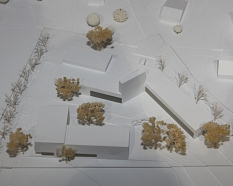 So sollen die neuen Gebäude für die Feuerwehr in Cappel aus Richtung Süden aussehen, wie das Siegermodell zeigt.©Heiko Krause, Stadt Marburg
