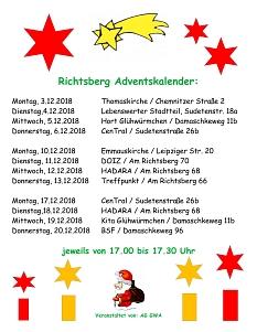 Richtsberg Adventskalender©Lebenswerter Stadtteil Richtsberg e.V.