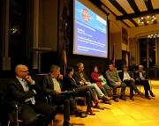 Podiumsdiskussion bei der Veranstaltung zur Fertigstellung des Energiekonzepts Richtsberg