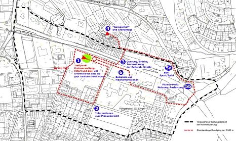 """Route Stadtteilspaziergang """"Ab in den Süden"""" 17. Sept. 2021©Universitätsstadt Marburg"""