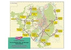 """Routenplan zur """"Tour der Mobilität"""" am 27.06.2020©Universitätsstadt Marburg"""