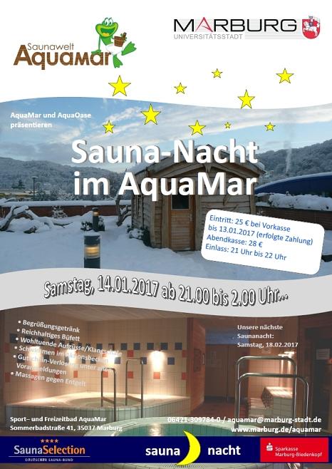 Das Sport- und Freizeitbad AquaMar veranstaltet am Samstag (14. Januar) eine Saunanacht.©Universitätsstadt Marburg