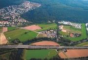 Schrägluftbild Stand 2005 zum Bebauungsplan Nr. 18/27 Steinmühle - Schule und Internat