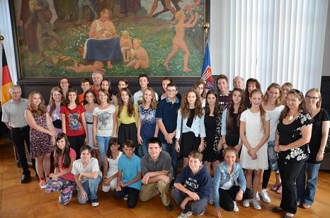 Schülerinnen und Schüler der Partnerstadt Maribor©Universitätsstadt Marburg - Tina Eppler