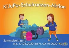 ein Comicbild mit zwei Kindern und verschiedenen Schultaschen©Universitätsstadt Marburg