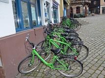 Rund 20 Fahrräder hatte Siemens für die Demonstration der Grünen Welle bereitgestellt.