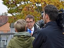 Stefan Eckert, Leiter Division Mobility in Süddeutschland bei Siemens, freute sich über die Weltpremiere von SiBike.