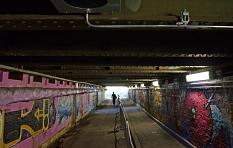 Dunkel, bedrückend, beängstigend: So sah der Jägertunnel noch im August 2018 aus.©Birgit Heimrich, Stadt Marburg