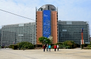 Das Gebäude des Sitz' der Europäischen Kommision