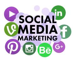Buchstaben und Symbole aus den Sozialen Medien und der Schriftzug Social Media Marketing©Social Media Marketing von Big Oak Flickr unter CC 2.0 BY-SA