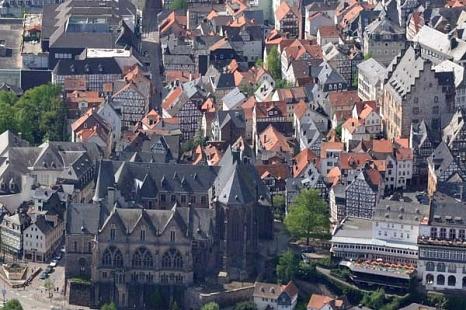 Blick auf die Dächer denkmalgeschützter Gebäude in Marburg©Universitätsstadt Marburg