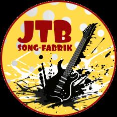 """Eine Gitarre """"smasht"""" zu Boden, oben zu lesen JTB (für Join the Band) und """"Song-Fabrik"""".©Universitätsstadt Marburg"""