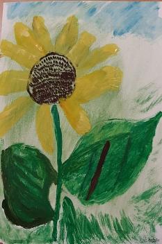 Das Bild zeigt eineSonnenblume©Angelika Trautmann- Gutjahr