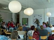 Jürgen Kaiser vom Fachdienst Stadtplanung stellte die bisherigen städtebaulichen Planungen für das Programm Soziale Stadt in Ockershausen und Stadtwald vor.