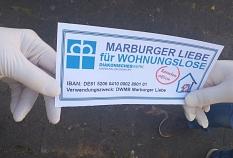 Spendenaktion: Marburg Liebe für Wohnungslose©Diakonisches Werk Marburg-Biedenkopf